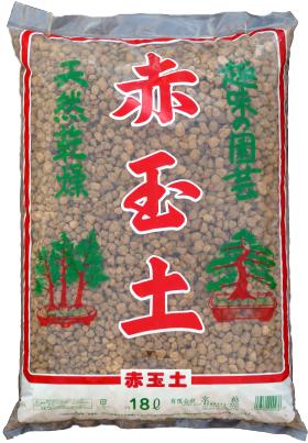 赤玉土 赤枠 約18Lは、栃木県鹿沼市周辺より採取した関東ロームの下層土で、粘土質で塊状の原料土を天日干ししたのち、粉砕・微塵抜き・篩い分けしたものです。